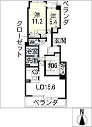 ロイヤルアーク覚王山5B号[5階]の間取り