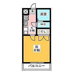 メモリアル博多[4階]の間取り