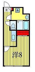 ATORAS MAKUHARI 3階1Kの間取り