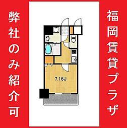 サヴォイ箱崎セントリシティ 8階1Kの間取り