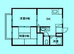 メゾンテヅカ A[2階]の間取り
