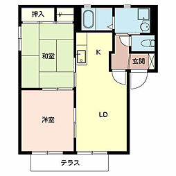 ルミナスコートA棟[1階]の間取り