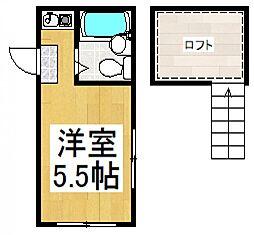 シャトー高木[2階]の間取り