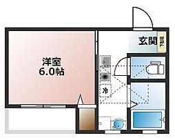大物新築アパート[202号室]の間取り