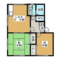 グランドメゾンキムラA[2階]の間取り