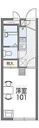コーポ御代川II[3階]の間取り