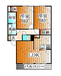 トゥール・モンドA[2階]の間取り