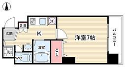 プレサンス京都三条響洛[2階]の間取り