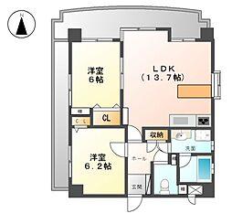 ライオンズマンション上飯田[6階]の間取り