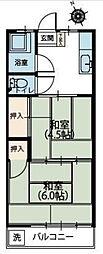 第三榎本荘[2階]の間取り