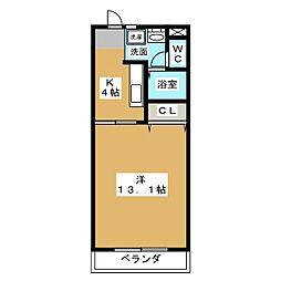 マンションベイビュー[2階]の間取り