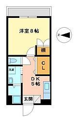 イナダマンション[5階]の間取り