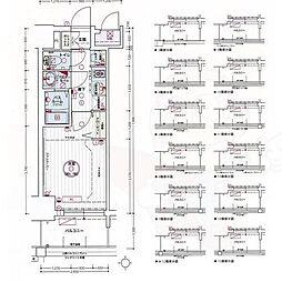 名古屋市営東山線 亀島駅 徒歩3分の賃貸マンション 12階1Kの間取り