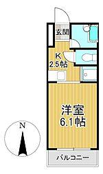メゾンフジヨシ[3階]の間取り