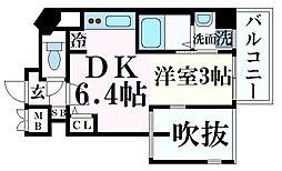 THE GRID北野坂 5階1DKの間取り