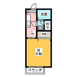 フレグランス小林台[1階]の間取り