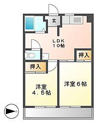 フィレンツェ栄[5階]の間取り