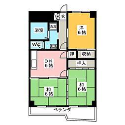 降旗ビル[4階]の間取り