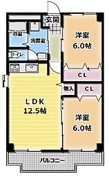 リーフスタイル 古川橋[2階]の間取り