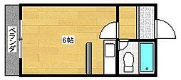 コーポ南津守[2階]の間取り