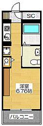 フェルト627[5階]の間取り