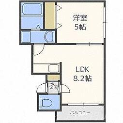 北海道札幌市中央区南十四条西18丁目の賃貸マンションの間取り