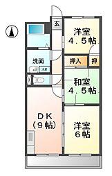 愛知県清須市新清洲1丁目の賃貸マンションの間取り