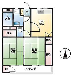 矢野第二ビル[3階]の間取り