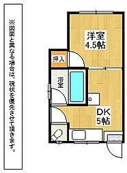 コンフォース皿倉I[3階]の間取り