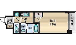 プレサンス新大阪ジェイズ 2階1Kの間取り
