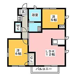 サンモール コリーヌ E棟[1階]の間取り