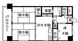クレセント89[305号室]の間取り