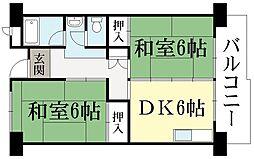 UR-久御山団地[5階]の間取り