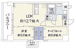 ウッドリバー新大阪[603号室]の間取り