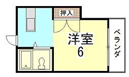 Newハウス上田[202号室号室]の間取り