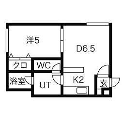 北海道札幌市北区北36条西3丁目の賃貸マンションの間取り