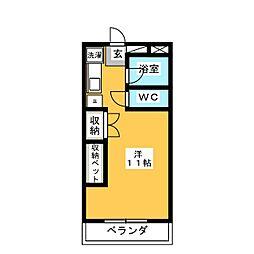 上田パストラルコート[1階]の間取り