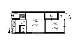 東京都板橋区上板橋3の賃貸アパートの間取り
