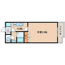 静岡鉄道静岡清水線 新静岡駅 バス22分 郷堂下車 徒歩5分の賃貸マンション 2階1Kの間取り
