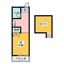 ルネパレス狐ヶ崎第2[2階]の間取り