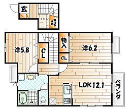 サザンヒルズA棟[2階]の間取り