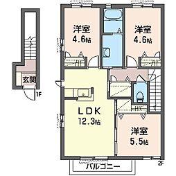 Re−ge VI[2階]の間取り
