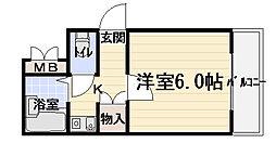 大阪府守口市京阪本通1の賃貸マンションの間取り