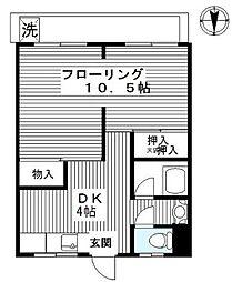 目黒第一マンション[502号室]の間取り