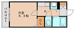 ライオンズマンション県庁東[12階]の間取り