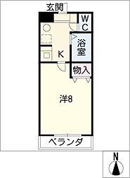 エクセランス小池 II[3階]の間取り