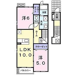 エアリーパーク神戸[2階]の間取り