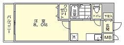 リファレンス県庁口[12階]の間取り
