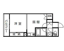 パームコート旭川[502号室]の間取り