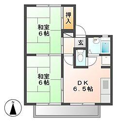 サンハウス成田[1階]の間取り